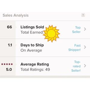 Other - Fast Shipper and 5 star rating ⭐️⭐️⭐️⭐️⭐️